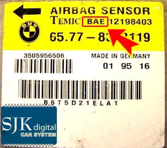 bmw e31 e34 e36 e38 e39 e46 e53 airbag steuerger te. Black Bedroom Furniture Sets. Home Design Ideas